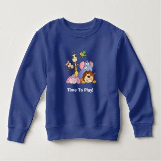幼児のスエットシャツ--ジャングル動物 スウェットシャツ