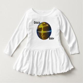 幼児のディスコのベビーのひだの服 ドレス