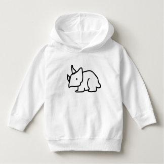 幼児のトリケラトプスのプルオーバーのフード付きスウェットシャツ パーカ