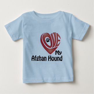 幼児のワイシャツ: 私のアフガンハウンドを愛して下さい ベビーTシャツ