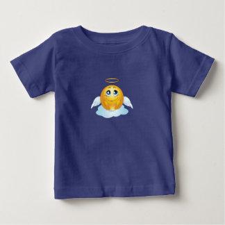 幼児の天使のEmojiのTシャツ ベビーTシャツ