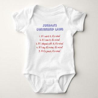幼児の所有権の法律-ヨルダン ベビーボディスーツ