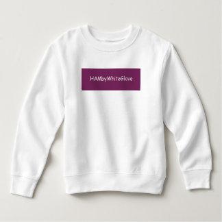 幼児の白かRasb。 HAMbyWhiteGloveのフリースの汗 スウェットシャツ