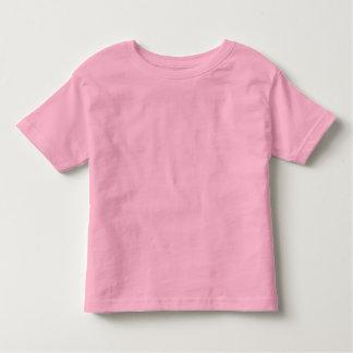 幼児の罰金のジャージーの明白なピンクのTシャツ トドラーTシャツ