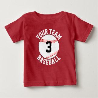幼児の野球チームの名前及びジャージー数Gameday ベビーTシャツ