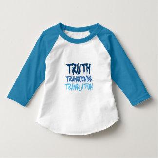幼児の青いRaglanの真実のTシャツ Tシャツ
