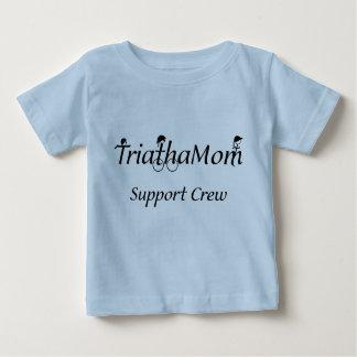 幼児のTriathaMomサポートTシャツ ベビーTシャツ