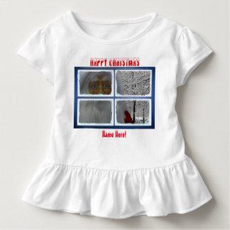 幼児ひだティーのためのクリスマスのイメージ トドラーTシャツ