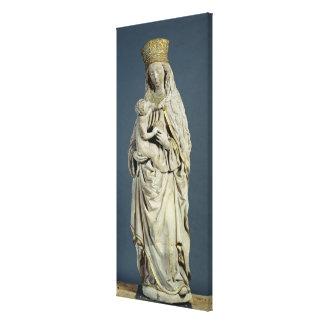 幼児キリストを持つ神、1470年の母 キャンバスプリント
