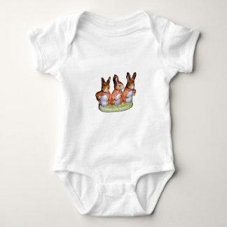 幼児クリーパーかTシャツ- Flopsy、MopsyおよびCott ベビーボディスーツ