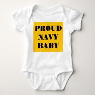 幼児クリーパー誇り高い海軍ベビー ベビーボディスーツ