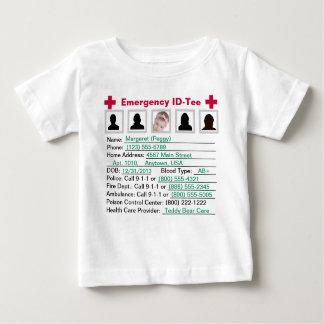 幼児緊急のIDティーかクリーパー ベビーTシャツ