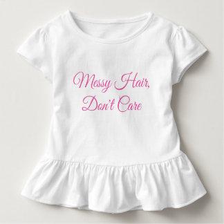 幼児、きたない毛 トドラーTシャツ