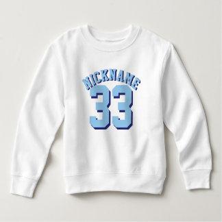 幼児 のスポーツのジャージーの白く及び青のデザイン スウェットシャツ