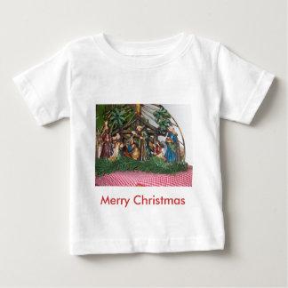 幼児Tシャツかクリスマスまたは出生 ベビーTシャツ