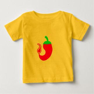 幼児Tシャツの縦の熱いハラペーニョ ベビーTシャツ