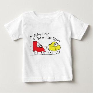 幼児Tシャツは私のお父さんの車あなたのより速いです ベビーTシャツ