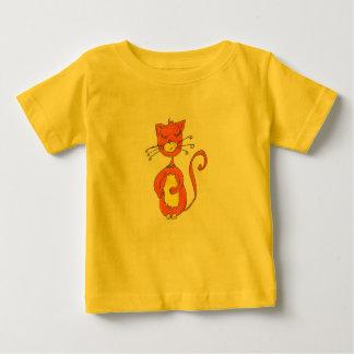 幼児Tシャツ- CAT漫画の女性 ベビーTシャツ