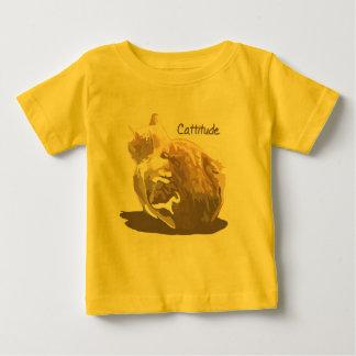 幼児TシャツCattitude ベビーTシャツ