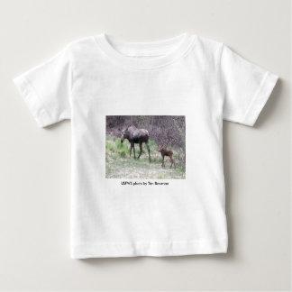 幼児T/アメリカヘラジカおよび子牛 ベビーTシャツ