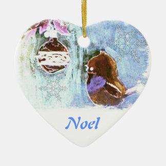 幼年期のクリスマスのファンタジーの(パステル調の)オーナメント 陶器製ハート型オーナメント