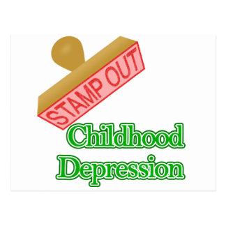 幼年期の不況を押して下さい ポストカード