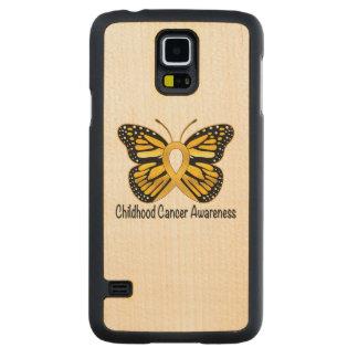 幼年期の蟹座の蝶認識度のリボン CarvedメープルGalaxy S5スリムケース