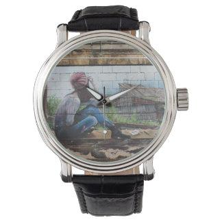 幼年期の記憶落書き 腕時計