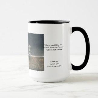 「幼年期」の芸術の15ozマグおよびエマーソンは引用します マグカップ