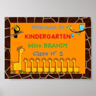 幼稚園のクラス、教室の印及び先生フレーム ポスター