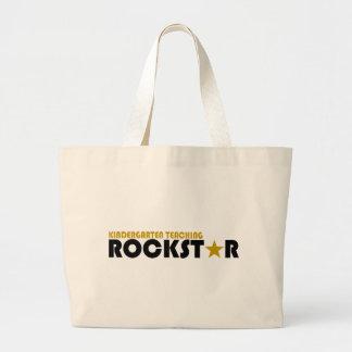 幼稚園の教授ロックスター ラージトートバッグ