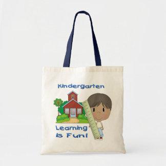 幼稚園の民族に男の子の学ぶことはおもしろいのバッグです トートバッグ