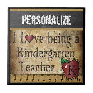 幼稚園教師のタイルがある愛 タイル