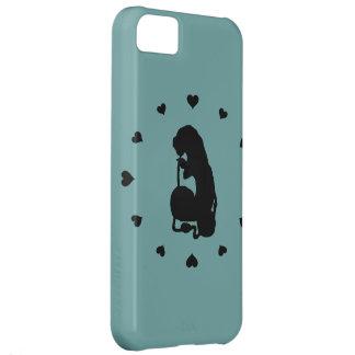 幼虫のまわりの黒いハート iPhone5Cケース