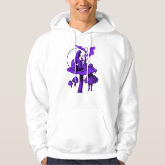幼虫の紫色の盛り土 パーカ