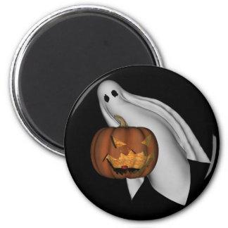 幽霊およびジャッキのoのランタンが付いているハロウィンの磁石 マグネット
