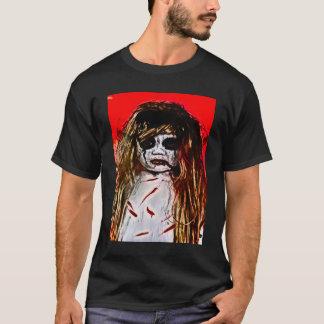 幽霊のよく出るで邪悪な幽霊の女の子のエアブラシの芸術 Tシャツ