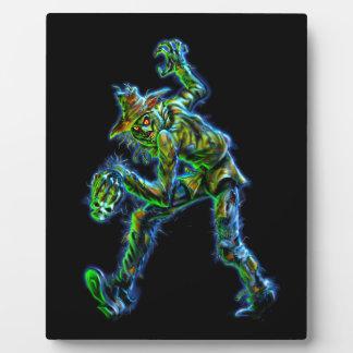 幽霊のよく出るなスカルのカラスのかかしモンスター フォトプラーク