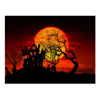 幽霊のよく出るな夜、お化け屋敷! (ハロウィンの) ~ ポストカード