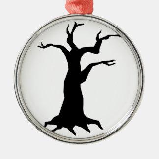 幽霊のよく出るな木 メタルオーナメント