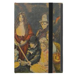 幽霊のカウボーイの衣裳のハロウィーンのカボチャのちょうちんのカボチャ iPad MINI ケース