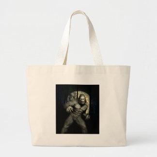 幽霊のサル ラージトートバッグ