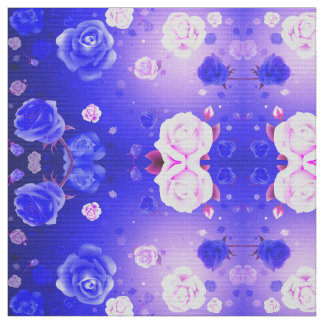 幽霊のバラの紫色の生地 ファブリック