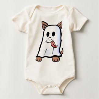 幽霊の子犬のワイシャツ ベビーボディスーツ