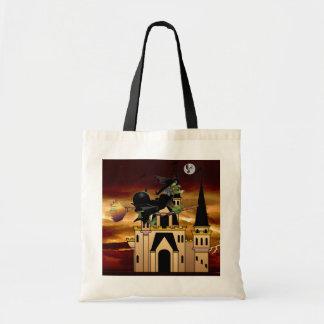 幽霊の月および城を追跡している魔法使い トートバッグ
