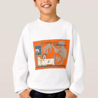 幽霊の精神の子供のベッドの満月の窓 スウェットシャツ