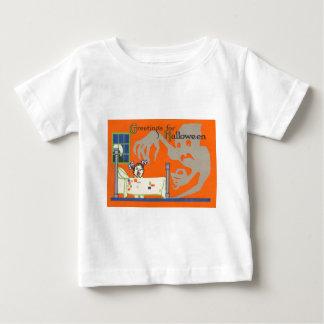 幽霊の精神の子供のベッドの満月の窓 ベビーTシャツ