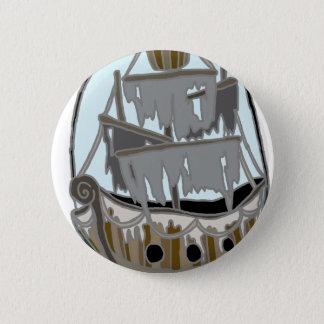 幽霊の船 5.7CM 丸型バッジ