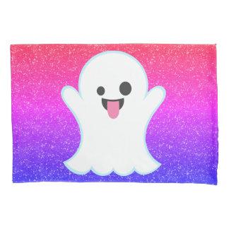 幽霊のEmojiのグラデーションな輝きの枕箱 枕カバー