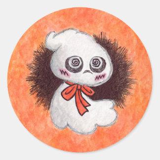 幽霊幽霊のステッカー ラウンドシール